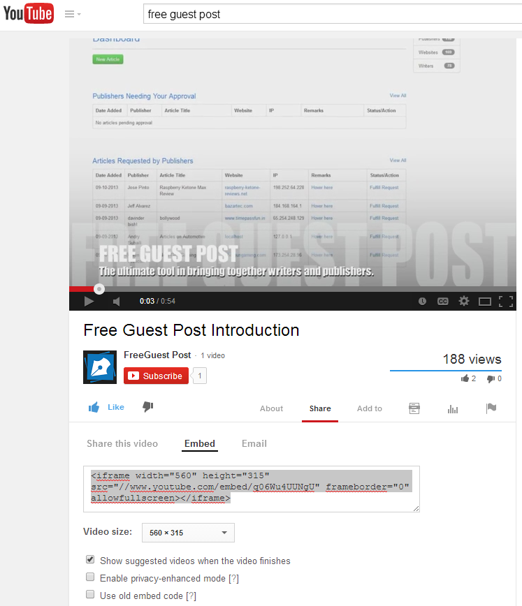 How to embed a YouTube video onto your blog